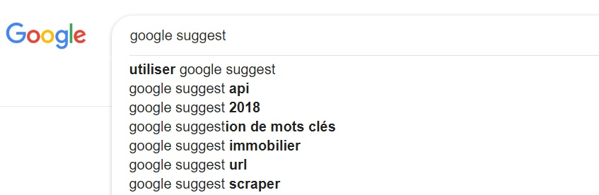 google-suggest-liste