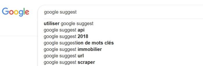 google-suggest-liste